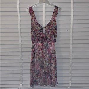 Short Floral Pink Dress